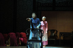 Recall-The second act of dance drama-Shawan events of the past Stock Image