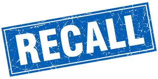 Recall square stamp Stock Photography