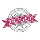 Recalled stamp. Recalled grunge rubber stamp on white Royalty Free Stock Photo