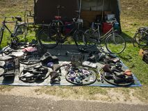 Recambios de la bicicleta para la venta Foto de archivo
