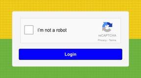 ReCAPTCHAversie 2 Royalty-vrije Stock Afbeeldingen