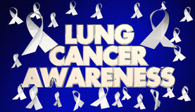 Recaudador de fondos 3d Illustratio de Lung Cancer Awareness Ribbons Disease stock de ilustración