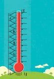 Recaudador de fondos del termómetro Imágenes de archivo libres de regalías