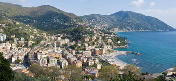 Recco, aerial view Royalty Free Stock Photo