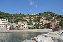 Recco. Liguria. Sea and beach in Northern Italy, Cinque Terre, UNESCO SITE and Natural Reserve Royalty Free Stock Images