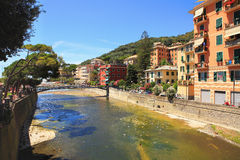 Recco - popular touristic resort. Stock Photo