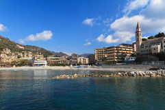 Recco from the sea, Italy Stock Images