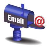 Recebendo email Fotografia de Stock Royalty Free