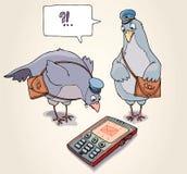 Recebendo o SMS Foto de Stock Royalty Free