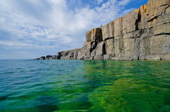 Receding cliffs, lake superior Royalty Free Stock Photos