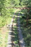 Receding into the distance rails Royalty Free Stock Photos