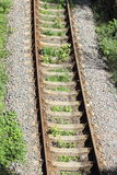 Receding into the distance rails Royalty Free Stock Images