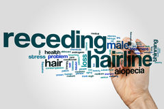 Receding hairline word cloud. Concept royalty free stock photography