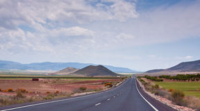 Receding Highway. A view of a empty receding highway in Andalusia, Spain Royalty Free Stock Photography