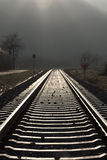 Receding railway track Stock Images