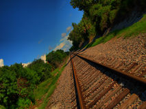 Receding railway tracks Royalty Free Stock Photo