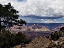Receding storm clouds over Grand Canyon Stock Images