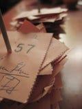 Receipt. Tailoring receipt stock image