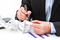 Receipt analysis Royalty Free Stock Photos