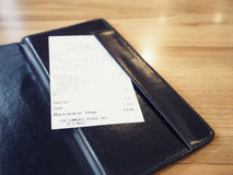 Receipt Bill in Folder Shopping Payment Retail Business Stock Photography