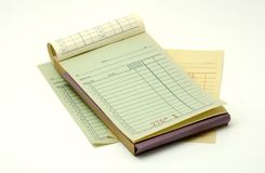 Receipt Book Royalty Free Stock Photos