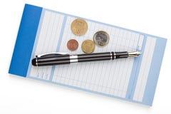 Receipt Book Fountain Pen and Fountain Pen Stock Image