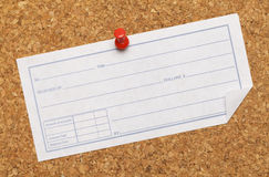 Receipt Cork Board Royalty Free Stock Image