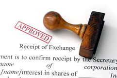 Receipt of exchange Royalty Free Stock Images