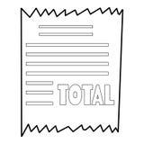 Receipt icon, outline style Stock Image
