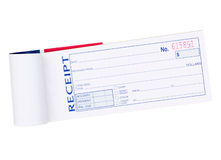 Receipt Pad Stock Photography