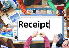 Receipt Receipts Cost Expenses Financial Spend Concept Royalty Free Stock Photography