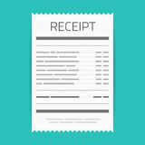 Receipt vector icon. Royalty Free Stock Images