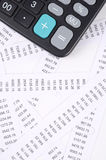 Receipts and calculator Royalty Free Stock Photography
