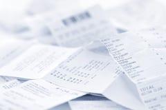 receipts försäljningar Royaltyfri Bild