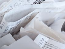 Receipts for income tax Royalty Free Stock Image
