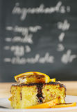 Receita da torta caseiro do coalho Foto de Stock
