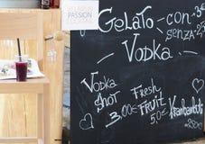 Receita do cocktail para a bebida da paixão de Bielorrússia Foto de Stock Royalty Free