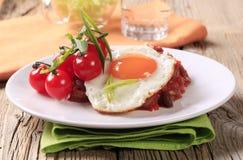 Receita do feijão vermelho e do tomate do vegetariano fotos de stock