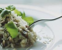 receita do risoto do cogumelo foto de stock royalty free