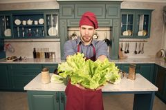 Receita do vegetariano do cozinheiro do homem com legumes frescos Legumes frescos da picareta Ingrediente do cano principal dos v imagens de stock royalty free