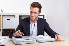 Receita fiscal e exame oficial dos livros contábeis de imposto Imagens de Stock