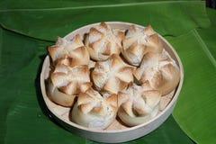 Receita Panlasang Pinoy do pão de Putok fotografia de stock
