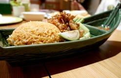 Receita picante tailandesa do arroz fritado do alimento imagem de stock royalty free