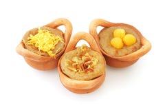 Receita tailandesa da sobremesa do creme do feijão de Mung imagem de stock royalty free