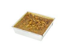 Receita tailandesa da sobremesa do creme do feijão de Mung fotografia de stock