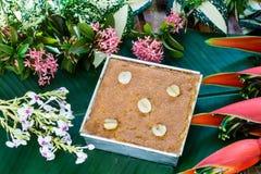 Receita tailandesa da sobremesa do creme do feijão de Mung fotos de stock royalty free