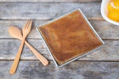 Receita tailandesa da sobremesa do creme do feijão de Mung fotos de stock