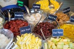 Receita tailandesa da sobremesa: Mit de Ruam (sobremesa misturada) Imagem de Stock