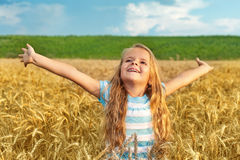 Receive blessings of nature Royalty Free Stock Photography