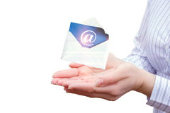 Receive emails on the network. Royalty Free Stock Photo